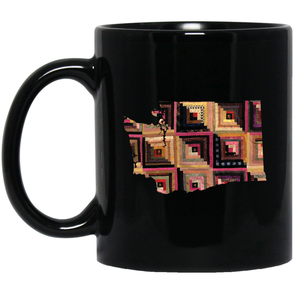 Washington Quilter Black Mugs