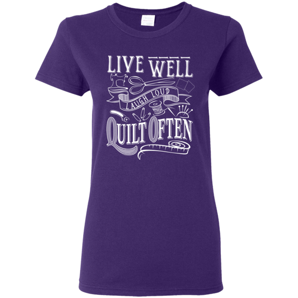 Quilt Often Ladies' T-Shirt