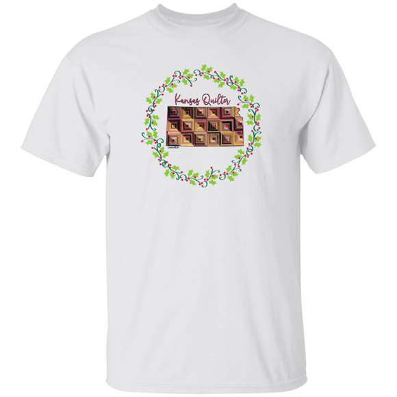 Kansas Quilter Christmas T-Shirt