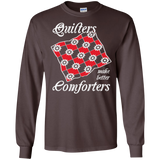 Quilters Make Better Comforters Long Sleeve Ultra Cotton T-Shirt - Crafter4Life - 3