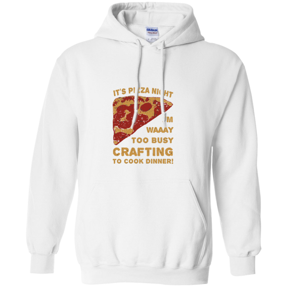 Pizza Night Pullover Hoodie 8 oz.