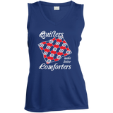 Quilters Make Better Comforters Ladies Sleeveless V-Neck - Crafter4Life - 4
