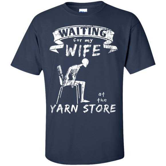 Waiting at the Yarn Store Men's and Unisex T-Shirts - Crafter4Life - 1