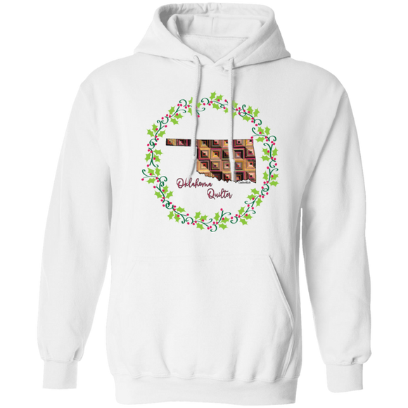 Oklahoma Quilter Christmas Pullover Hoodie