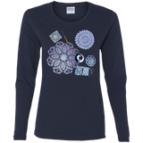 Crochet Collage Ladies Cotton LS T-Shirt
