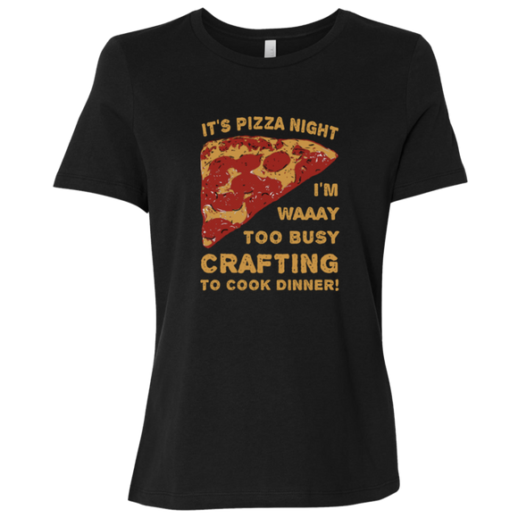 Pizza Night Ladies Relaxed Jersey Short-Sleeve T-Shirt