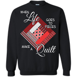 Make a Quilt (red) Crewneck Sweatshirts - Crafter4Life - 2