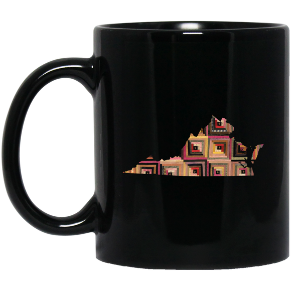 Virginia Quilter Black Mugs