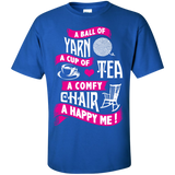 A Ball of Yarn, A Happy Me Custom Ultra Cotton T-Shirt - Crafter4Life - 10