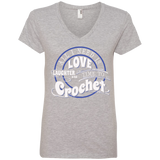 Time to Crochet Ladies V-Neck Tee - Crafter4Life - 2
