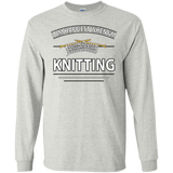 I Am Happiest When I'm Knitting Long Sleeve Ultra Cotton T-Shirt - Crafter4Life - 2
