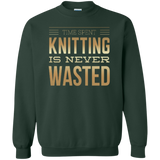 Time Spent Knitting Crewneck Sweatshirt - Crafter4Life - 5