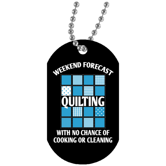 Weekend Forecast Quilting Dog Tag Pendant