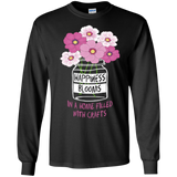 Happiness Blooms with Crafts Long Sleeve Ultra Cotton T-Shirt - Crafter4Life - 3
