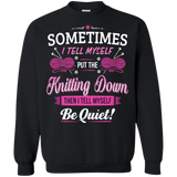 Put the Knitting Down Crewneck Sweatshirts - Crafter4Life - 2