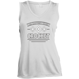 I Am Happiest When I Crochet Ladies Sleeveless V-neck - Crafter4Life - 2