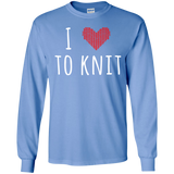 I Heart To Knit LS Ultra Cotton T-Shirt