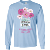 Happiness Blooms with Crafts Long Sleeve Ultra Cotton T-Shirt - Crafter4Life - 5