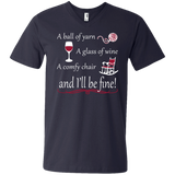 A Ball of Yarn a Glass of Wine Men's and Unisex T-Shirts - Crafter4Life - 10