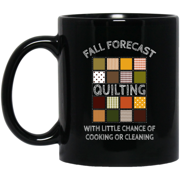 Fall Forecast - Quilting Black Mugs