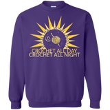 Wish I May Crochet Crewneck Pullover Sweatshirt