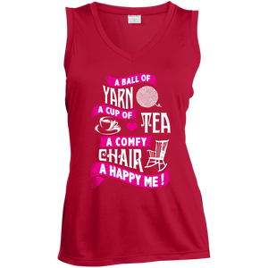 A Ball of Yarn, A Happy Me Ladies Sleeveless V-neck - Crafter4Life - 4