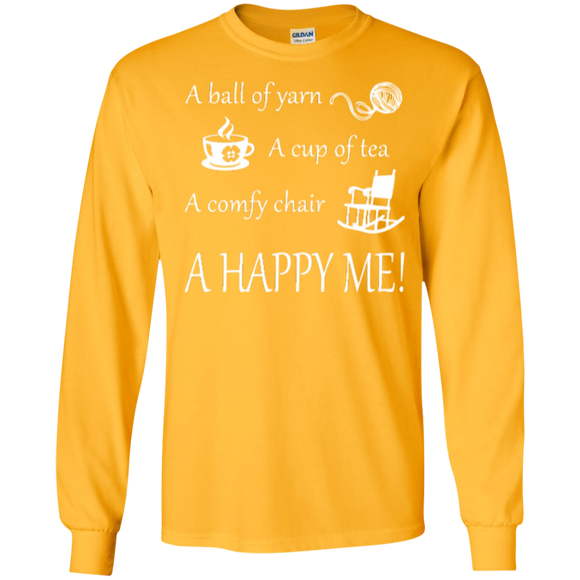 A Happy Me Long Sleeve Ultra Cotton T-shirt - Crafter4Life - 1