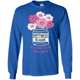 Happiness Blooms with Crafts Long Sleeve Ultra Cotton T-Shirt - Crafter4Life - 1