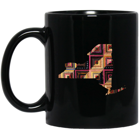 New York Quilter Black Mugs