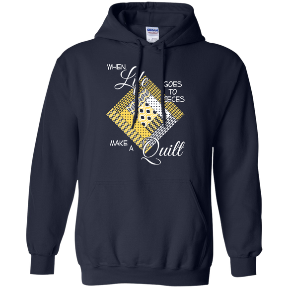 Make a Quilt (yellow) Pullover Hoodies - Crafter4Life - 1
