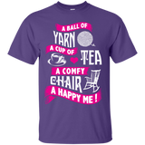 A Ball of Yarn, A Happy Me Custom Ultra Cotton T-Shirt - Crafter4Life - 11