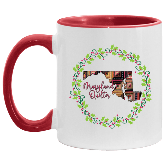 Maryland Quilter Christmas Accent Mug