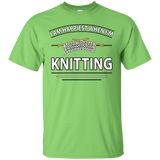 I Am Happiest When I'm Knitting Custom Ultra Cotton T-Shirt - Crafter4Life - 8