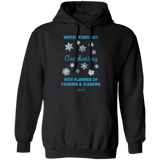 Winter Forecast Crocheting Flurries Pullover Hoodie