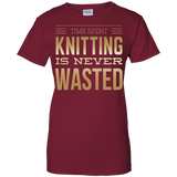 Time Spent Knitting Ladies Custom 100% Cotton T-Shirt - Crafter4Life - 3