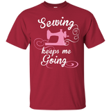 Sewing Keeps Me Going Custom Ultra Cotton T-Shirt - Crafter4Life - 4
