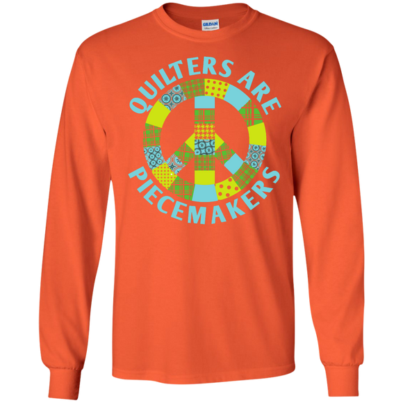 Quilters are Piecemakers Long Sleeve Ultra Cotton T-Shirt - Crafter4Life - 1