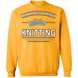 I Am Happiest When I'm Knitting Crewneck Sweatshirts - Crafter4Life - 5