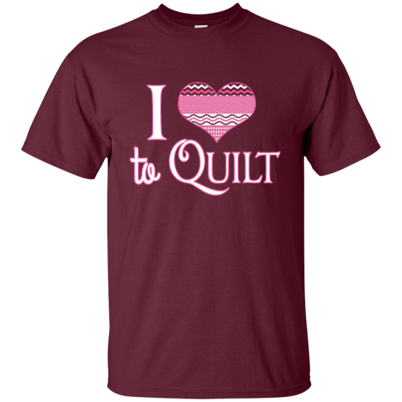 I Heart to Quilt Custom Ultra Cotton T-Shirt - Crafter4Life - 1