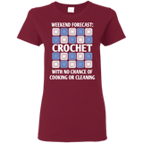 Weekend Forecast Crochet Ladies T-Shirt
