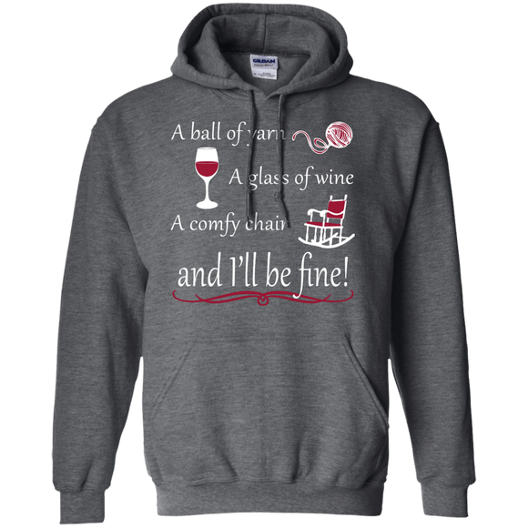 A Ball of Yarn a Glass of Wine Hoodie - Crafter4Life - 1
