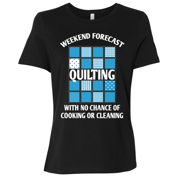 Weekend Forecast: Quilting Ladies' Relaxed Jersey Short-Sleeve T-Shirt
