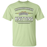 I Am Happiest When I'm Knitting Custom Ultra Cotton T-Shirt - Crafter4Life - 3