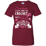 Crochet Mom Ladies Custom 100% Cotton T-Shirt - Crafter4Life - 3
