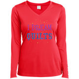 I Dream Quilts Long Sleeve V-neck Tee - Crafter4Life - 1