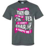 A Ball of Yarn, A Happy Me Custom Ultra Cotton T-Shirt - Crafter4Life - 8