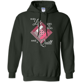 Make a Quilt (pink) Pullover Hoodies - Crafter4Life - 6