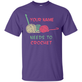 Needs to Crochet - Personalized Unisex T-Shirts