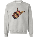 West Virginia Quilter Crewneck Pullover Sweatshirt