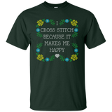 I Cross Stitch Because It Makes Me Happy Custom Ultra Cotton T-Shirt - Crafter4Life - 4